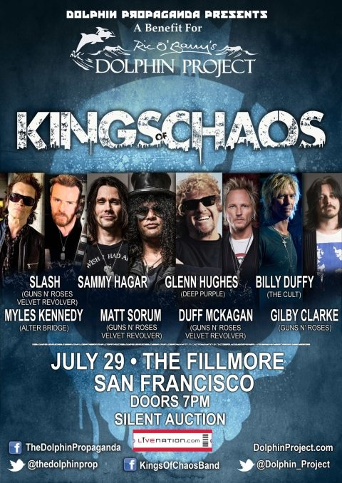Kings of Chaos to headline concert at the Fillmore to benefit Dolphin Project
