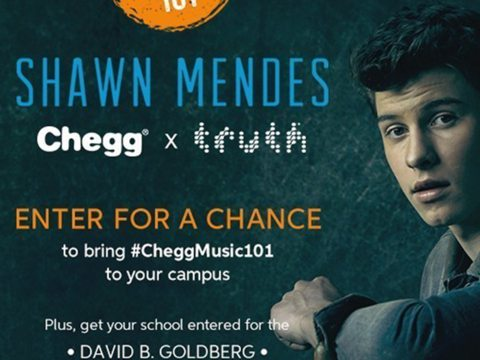 Chegg Partners Shawn Mendes