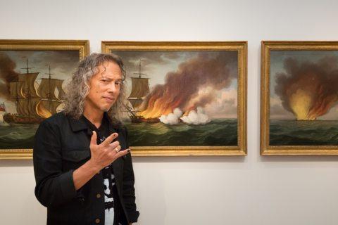 Kirk Hammett at PEM