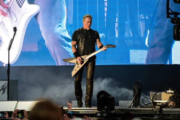 James Hetfield of Metallica playing at Outside Lands in San Francisco