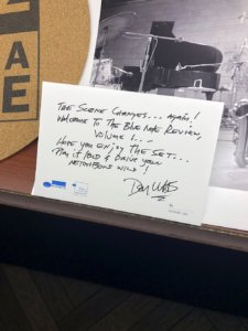 Don Was note in display case for Blue Note box set