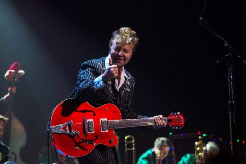 Brian Setzer celebrates Christmas Eve at the Warfield in San Francisco