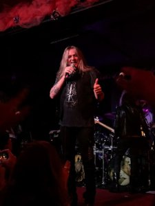 Sebastian Bach in high spirits at the Bottom of the Hill in San Francisco