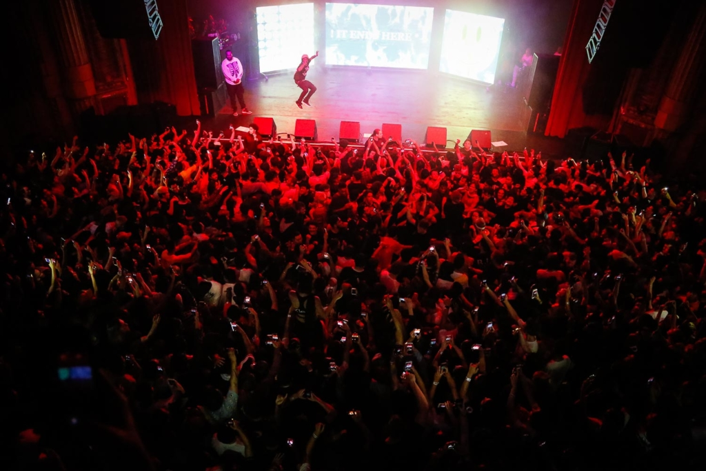 Playboy Carti performing at the Warfield in San Francisco