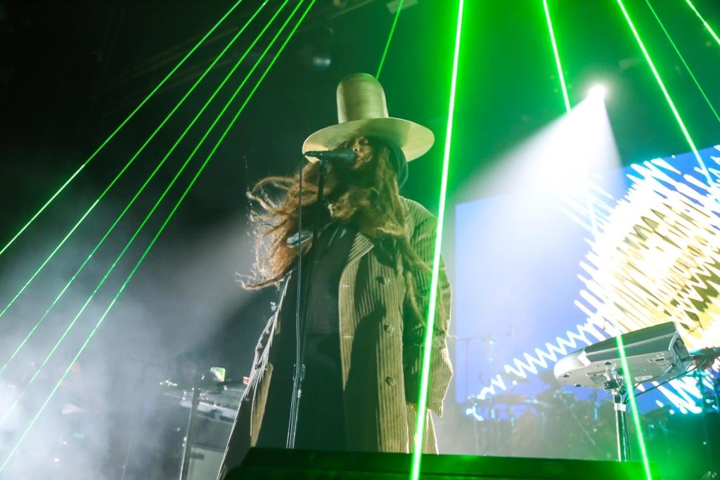 Erykah Badu performing at the Warfield in San Francisco